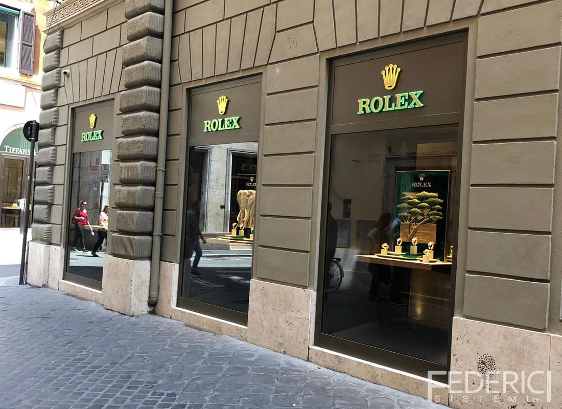 Rolex, Roma. Infissi realizzati da Federici Sistemi
