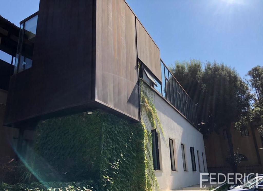 Ambasciata del Belgio, Roma. Infissi realizzati da Federici Sistemi