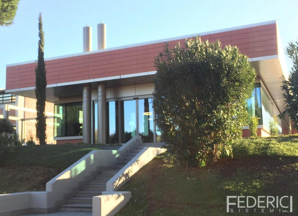 ESA ESRIN, Frascati, Roma. Infissi realizzati da Federici Sistemi