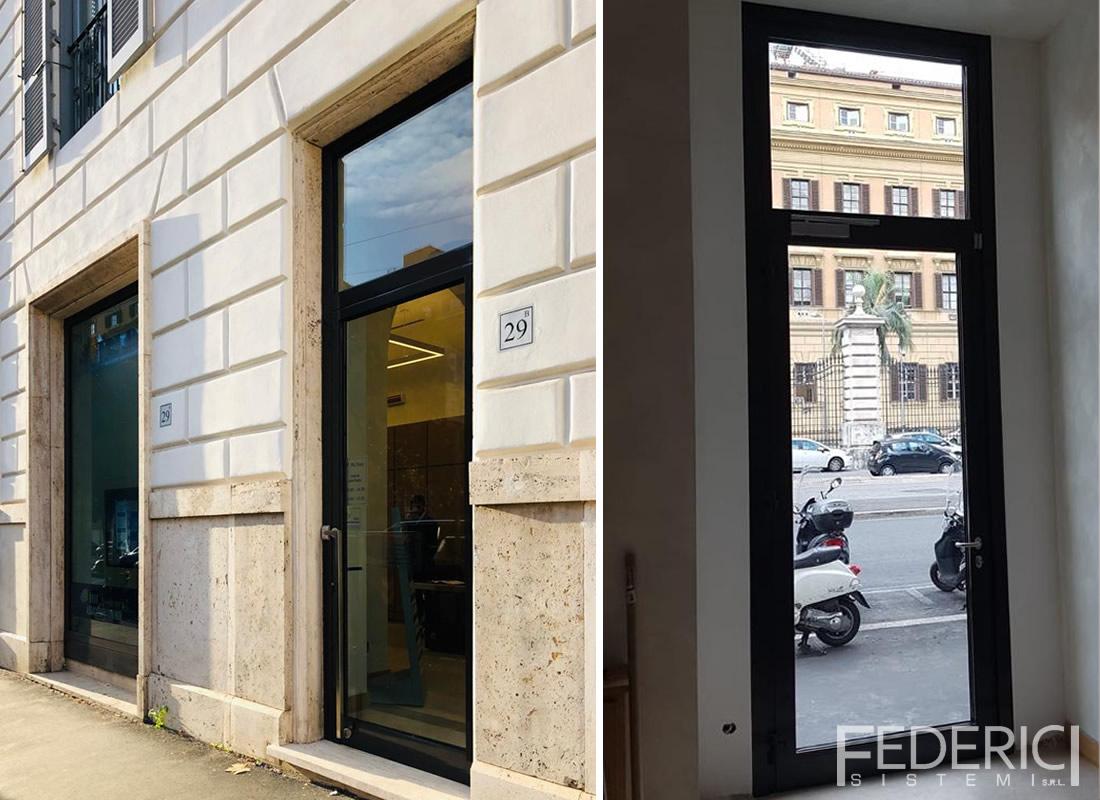 IBL Banca, Roma. Infissi realizzati da Federici Sistemi
